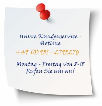 Kundenservice-Hotline 0931-2795270