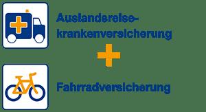 Auslandsreiseversicherung + Fahrradversicherung