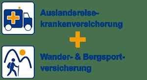 Auslandsreiseversicherung + Wander- & Bergsportversicherung - Spezialversicherung
