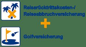 Reiserücktrittskosten-/Reiseabbruchversicherung + Golfversicherung