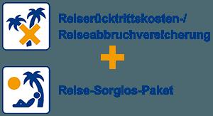 Reiserücktrittskosten-/Reiseabbruchversicherung + Reise-Sorglos-Paket