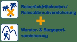 Reiserücktrittskosten-/Reiseabbruchversicherung + Wander- & Bergsportversicherung - Spezialversicherung