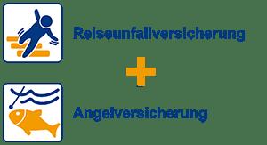 Reiseunfallversicherung + Angelversicherung
