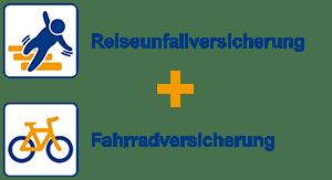 Reiseunfallversicherung + Fahrradversicherung
