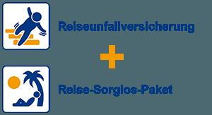 Reiseunfallversicherung + Reise-Sorglos-Paket