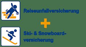 Reiseunfallversicherung + Ski- und Snowboardversicherung