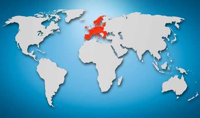 Weltkarte mit Ländern der EU und des ERW, in denen die GKV sich an Kosten nach einem Wanderunfall beteiligen könnte