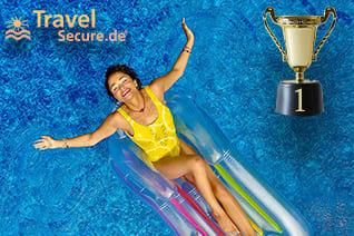 Travelsecure Testsieger Stiftung Warentest Finanztest sorgenfrei Urlaub buchen Corona Versicherung