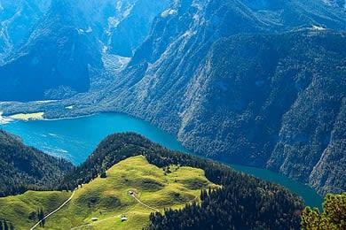 Wo wandern in Deutschland Berchtesgadener Land Königssee Bergungsversicherung Wanderversicherung