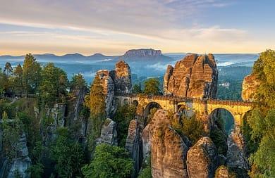 Wo wandern in Deutschland Sächsische Schweiz Elbsandsteingebirge Bergungsversicherung Wanderversicherung