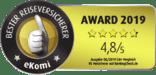 Ekomi Award Reiserücktrittsversicherung