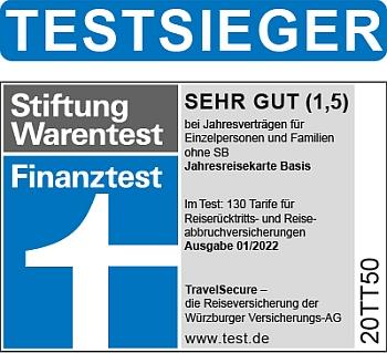 Stiftung Warentest Finanztest Testsieger Reiseruecktrittsversicherung Familien Einzelpersonen