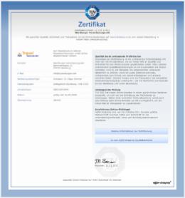Zertifikat Travelsecure